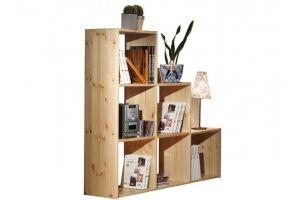 Стеллаж Лилия 6 из натурального дерева - Мебельная фабрика «Дубрава»