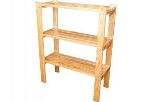 Стеллаж массив сосны - Мебельная фабрика «Упоровская мебельная фабрика»