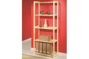 Стеллаж Рига 3 из натурального дерева - Мебельная фабрика «Дубрава»