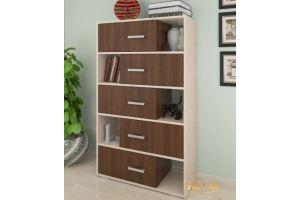 Стеллаж с 5 ящиками - Мебельная фабрика «Уют-М»