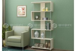 Стеллаж с хромированными опорами - Мебельная фабрика «ФОРЕС»