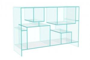 Стеллаж стеклянный Cristall-07 - Мебельная фабрика «Antall»