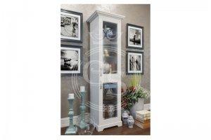Стеллаж узкий с фасадами из стекла - Мебельная фабрика «Фабрика авторской мебели GS»