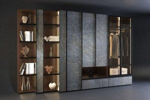Стеллаж в гостиную Woodstone - Мебельная фабрика «KUCHENBERG»