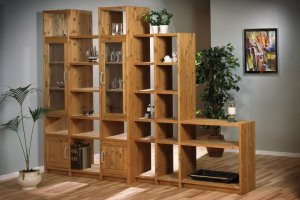 Стеллаж Вильнюс из натурального дерева - Мебельная фабрика «Дубрава»