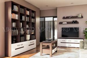 Модульный стеллаж Ким в гостиную - Мебельная фабрика «МиФ»