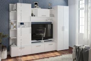 Стенка Денвер в белом цвете - Мебельная фабрика «Вавилон58»
