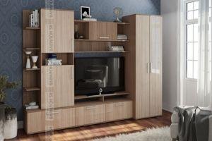 Стенка Денвер (ясень темный/ясень светлый) - Мебельная фабрика «Вавилон58»