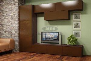 Стенка для гостиной эмаль ГЭМ 10 - Мебельная фабрика «ALDO»