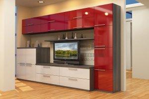 Стенка для гостиной эмаль ГЭМ 12 - Мебельная фабрика «ALDO»