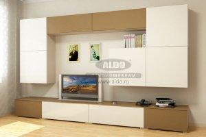 Стенка для гостиной эмаль ГЭМ 13 - Мебельная фабрика «ALDO»