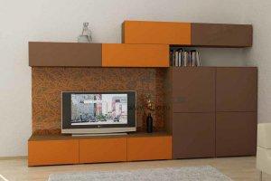 Стенка для гостиной эмаль ГЭМ 2 - Мебельная фабрика «ALDO»