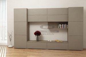 Стенка для гостиной эмаль ГЭМ 3 - Мебельная фабрика «ALDO»