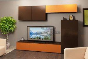 Стенка для гостиной эмаль ГЭМ 4 - Мебельная фабрика «ALDO»