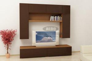 Стенка для гостиной эмаль ГЭМ 1 - Мебельная фабрика «ALDO»