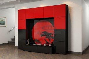 Стенка для гостиной эмаль ГЭМ 5 - Мебельная фабрика «ALDO»