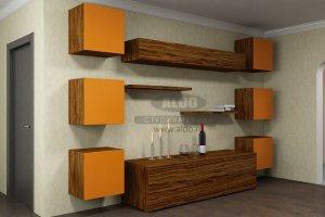 Стенка для гостиной эмаль ГЭМ 8 - Мебельная фабрика «ALDO»