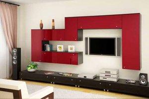 Стенка красная с венге - Мебельная фабрика «Святогор Мебель»