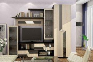 Стенка ЛДСП в гостиную Оскар 7 - Мебельная фабрика «Профи»