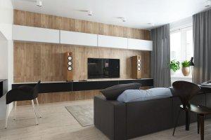 Стенка под ТВ  в гостиную - Мебельная фабрика «Алгаир»