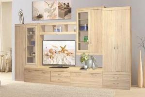 Стенка с платяным шкафом Полина - Мебельная фабрика «Балтика мебель»