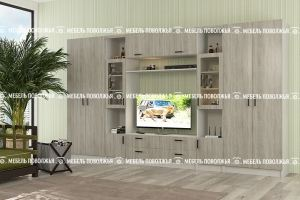 Стенка Сафари Дуб Сонома темный - Мебельная фабрика «Мебель Поволжья»