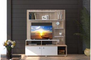 Стенка светлая в гостиную Юджи - Мебельная фабрика «НК-мебель»