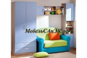 Стенка в детскую комнату 0014 - Мебельная фабрика «САнЭК»