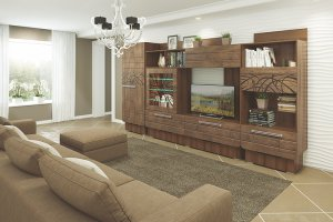 Стенка в гостиную Адель  - Мебельная фабрика «Прима-сервис»