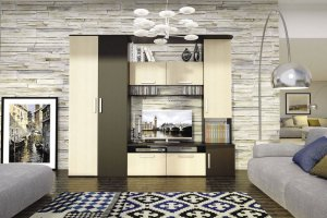 Стенка в гостиную Алегро комбинированная - Мебельная фабрика «Столлайн»