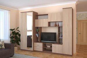 Стенка в гостиную Флора - Мебельная фабрика «Эко»