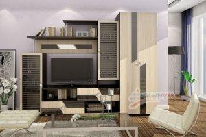 Стенка в гостиную Глория 2 - Мебельная фабрика «Мебельный стиль»