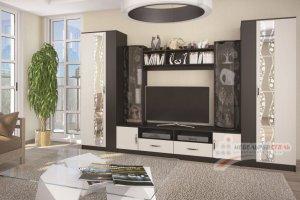 Стенка в гостиную Глория 3 - Мебельная фабрика «Мебельный стиль»