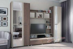 Стенка в гостиную Глория 4 - Мебельная фабрика «Мебельный стиль»