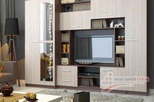 Стенка в гостиную Глория 5 - Мебельная фабрика «Мебельный стиль»
