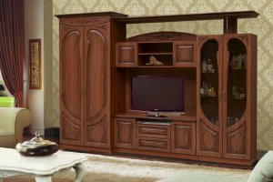 Стенка в гостиную Мираж 5 - Мебельная фабрика «Аристократ»