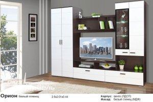 стенка в гостиную Орион белый глянец - Мебельная фабрика «Союз-мебель»