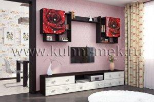Стенка в гостиную с фотопечатью - Мебельная фабрика «МЭК»
