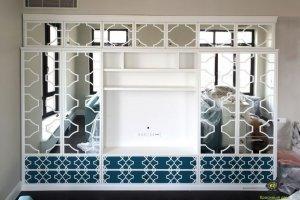 Стенка в гостиную синяя эмаль - Мебельная фабрика «Красивый Дом»