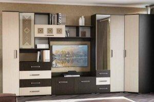 Стенка в гостиную угловая Белла 4.7 - Мебельная фабрика «РиИКМ»