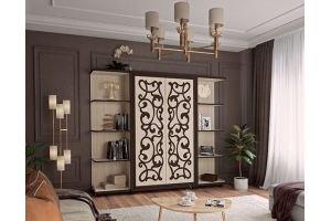 Стенка в гостиную Валенсия венге - Мебельная фабрика «Аквилон»