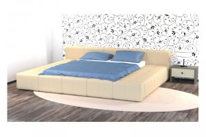 Стильная большая кровать №6 - К11 - Мебельная фабрика «Престиж-Л»