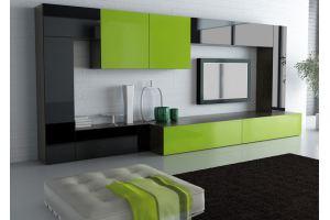 Стильная гостиная зеленый/венге - Мебельная фабрика «Интерьер»