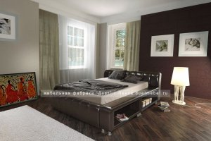 стильная кровать необычной формы Кампари - Мебельная фабрика «Дуэт»