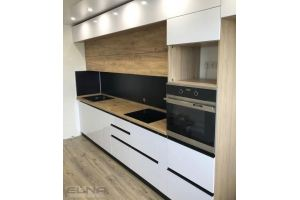 Стильная прямая кухня - Мебельная фабрика «Элна»