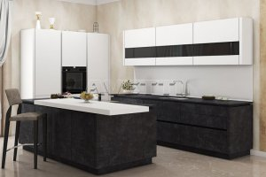 Стильная Кухня Fenix под бетон - Мебельная фабрика «Avetti»