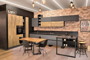 Стильная кухня Манхэттен - Мебельная фабрика «Ульяновскмебель (Эвита)», г. Ульяновск