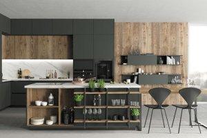 Стильная кухня с островом Monblanc - Мебельная фабрика «Cucina»