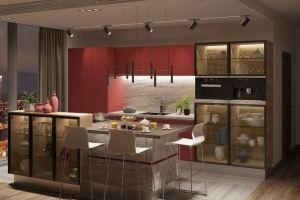 Стильная кухня SMart мрамор - Мебельная фабрика «GRETA»
