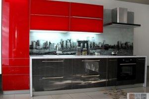 Стильная кухня со стеклянным фасадом - Мебельная фабрика «Актуаль-М»